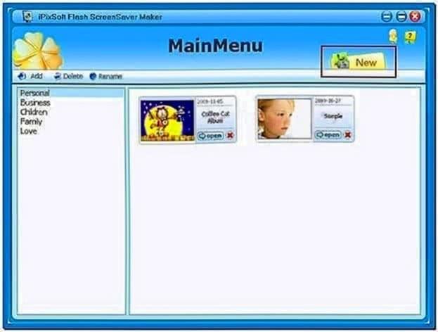 Slideshow Screensaver Program