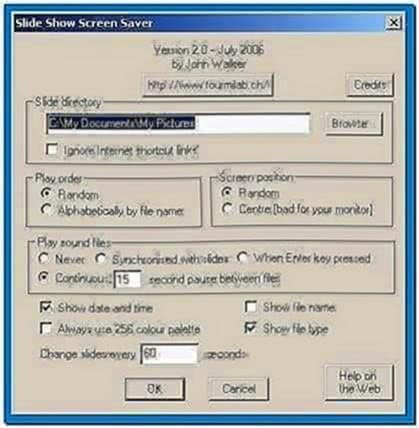 Slideshow Screensaver Windows 2000
