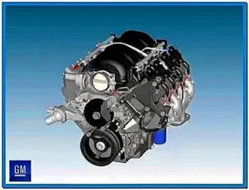 Small Block Truck and Car Engine Assembly Screensaver