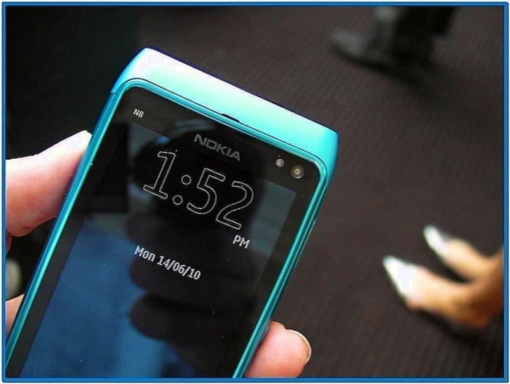 Small Clock Screensaver for Nokia N8