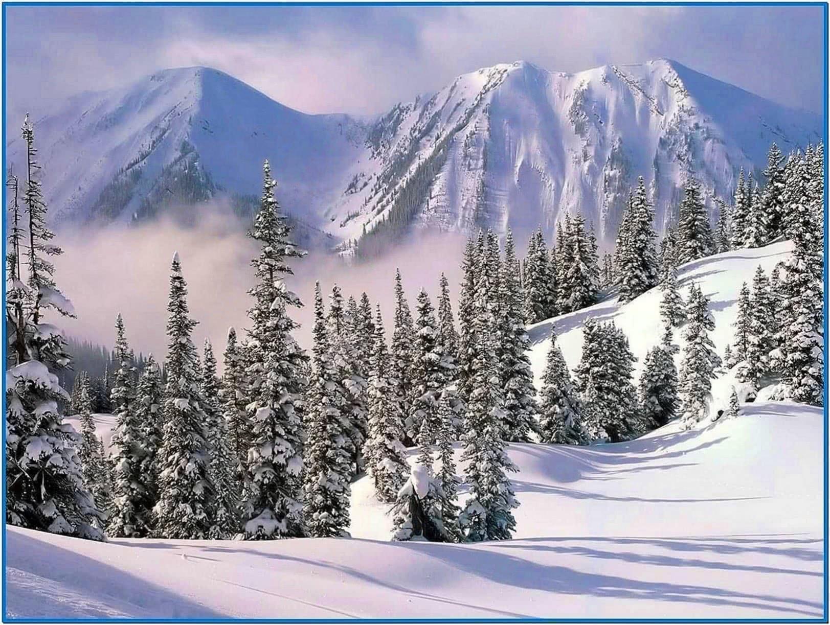 Snow Scene Desktop Screensaver