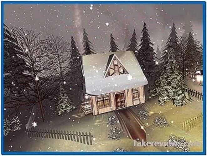 Snow Scene Screensaver Mac