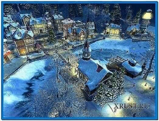 Snow village 3D screensaver 1.1.0.5