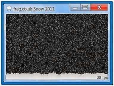 Snowfall screensaver Windows 7