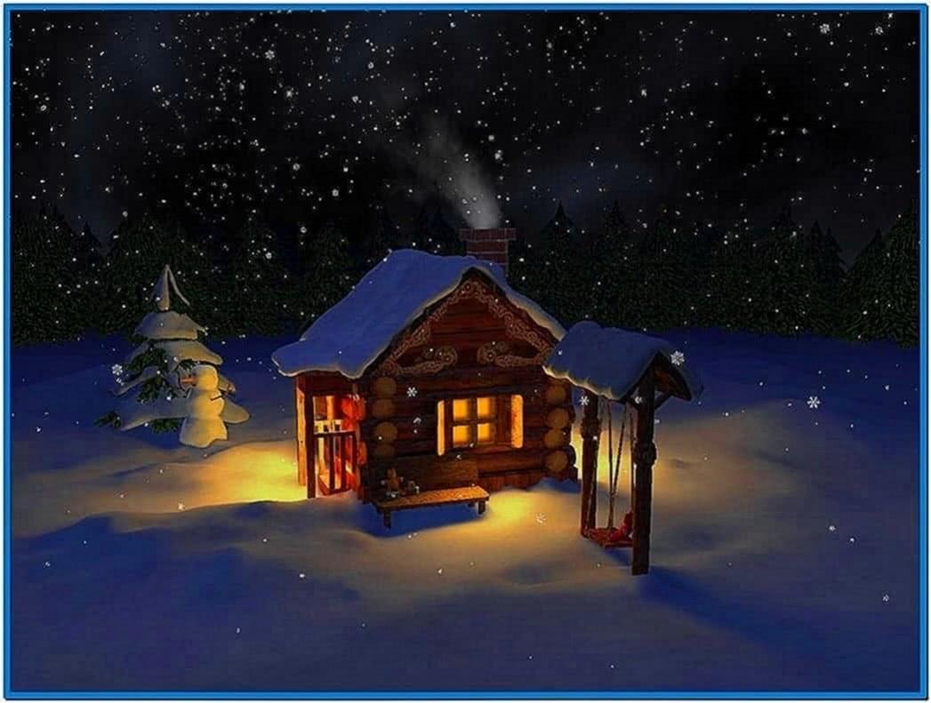 Snowflake Mild Winter 3D Screensaver
