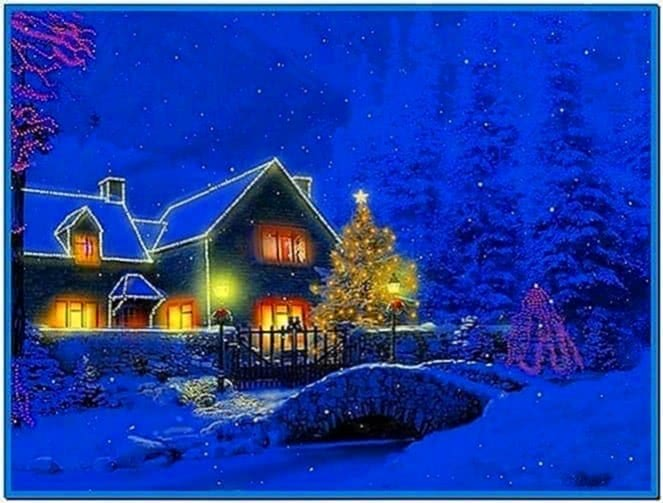 Snowy Christmas Cottage Screensaver Download For Free