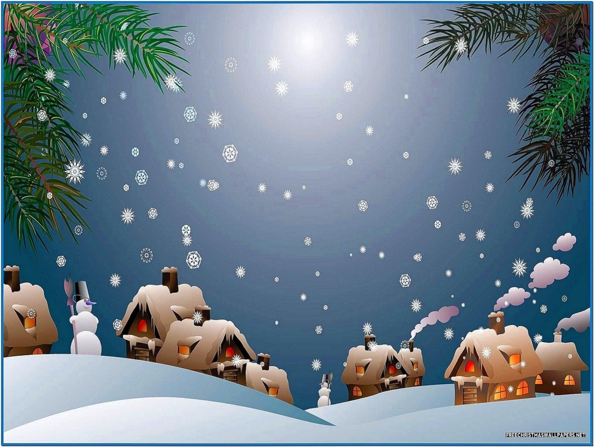 Snowy Christmas Screensaver