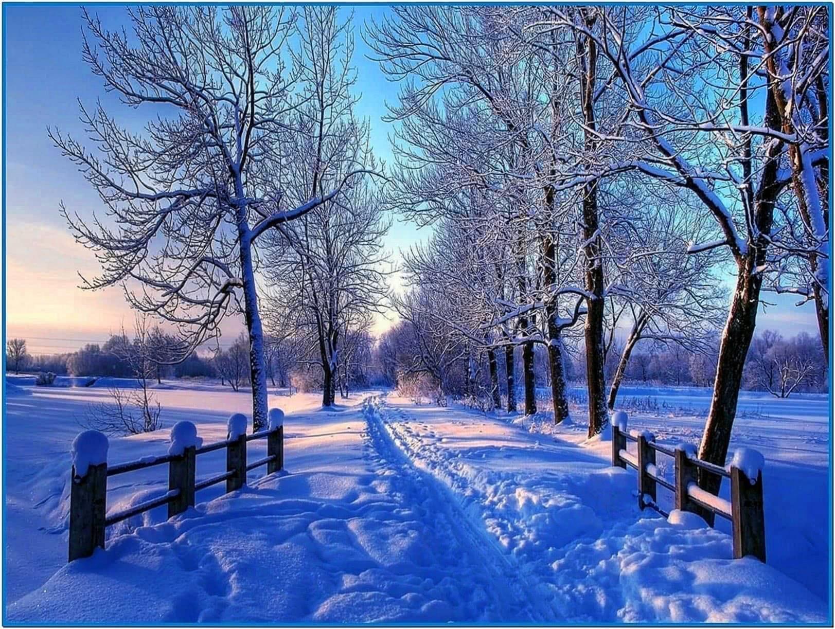 Snowy Winter Screensaver Mac