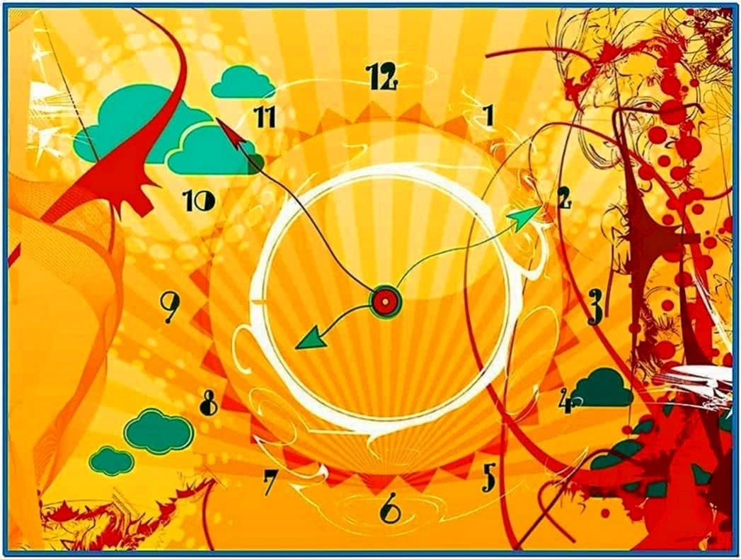 Solar clock screensaver Mac