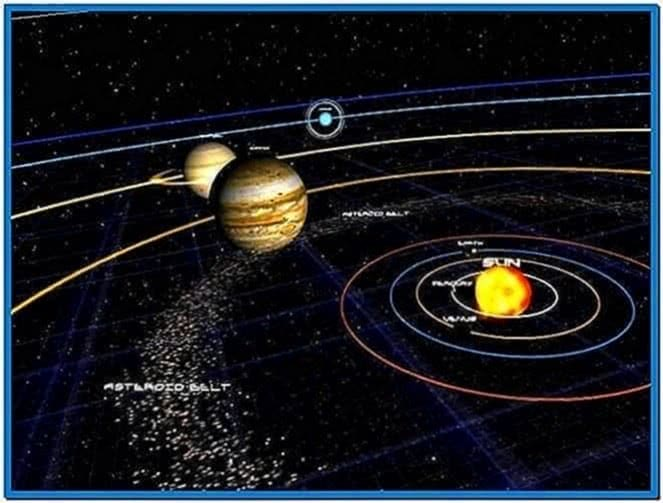 Solar System 3D Screensaver Code