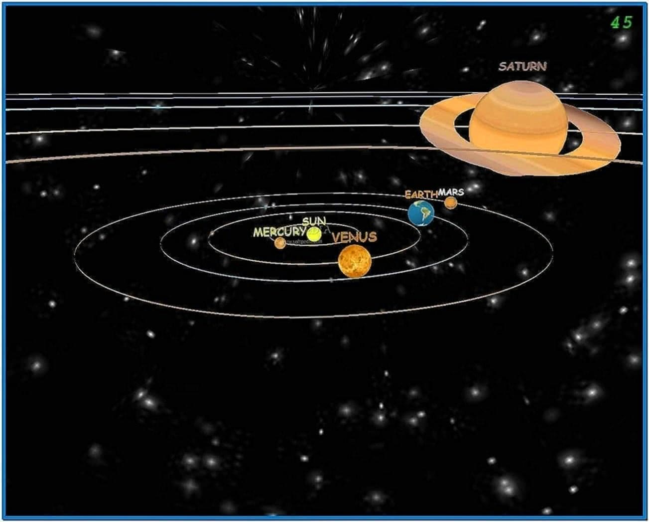 Solar System 3D Screensaver Full Version