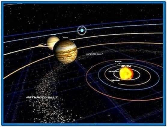 Solar System 3D Screensaver Game