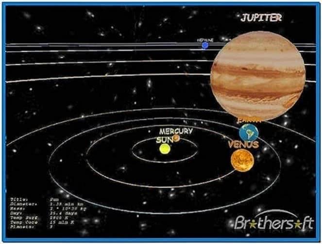 Solar System Earth 3D Screensaver 1.1