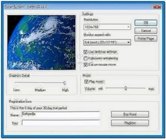 Solar System Earth 3D Screensaver