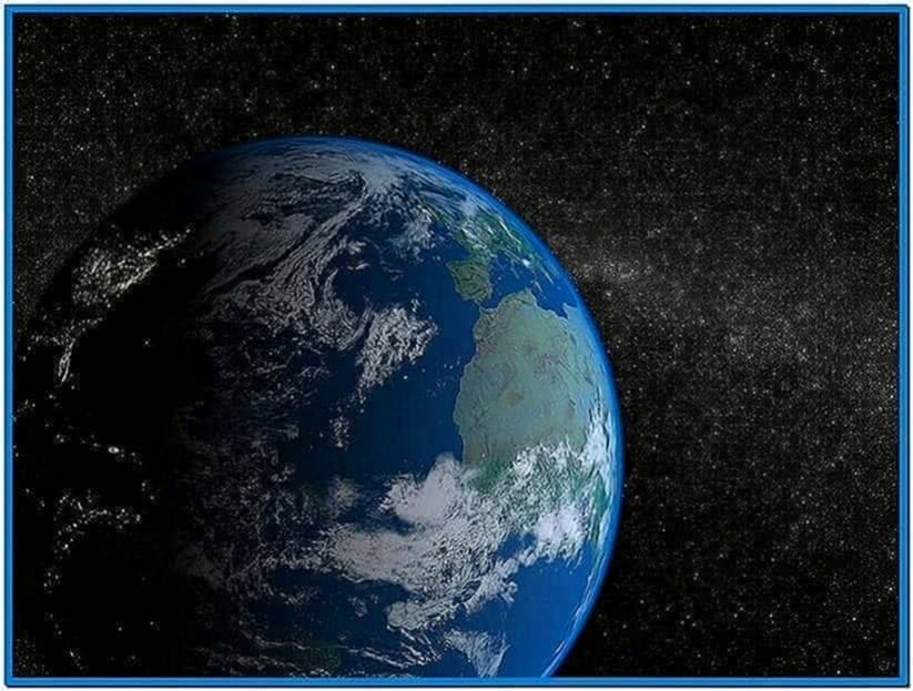 Solar System Earth 3D Screensaver