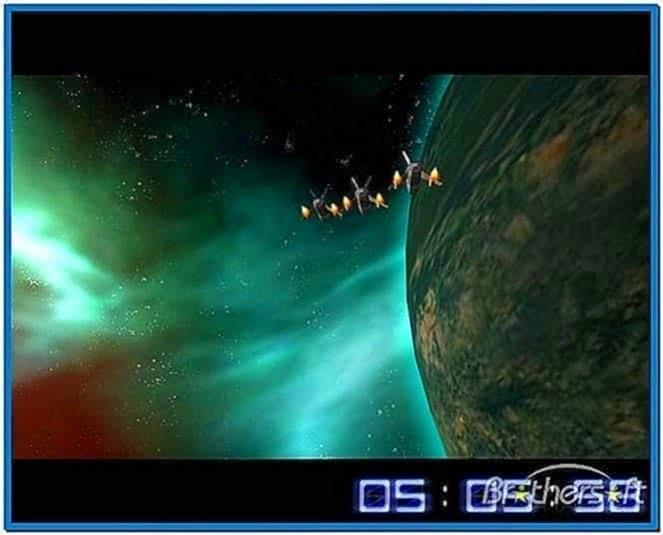 Space Flight Screensaver Mac