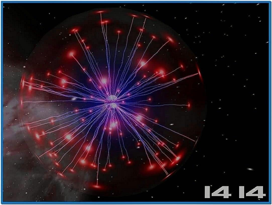 Space plasma 3D screensaver