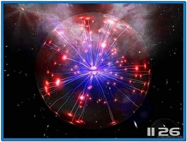 Space plasma 3D screensaver Mac