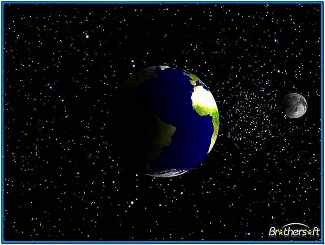 Spinning Earth Screensaver Mac