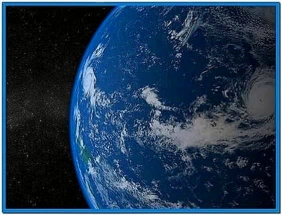 Spinning Earth Screensaver