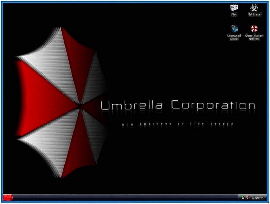 Spinning Umbrella Screensaver