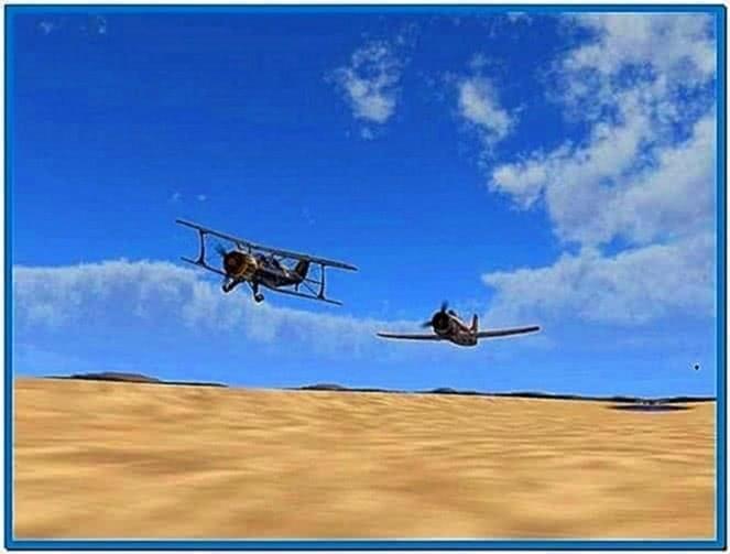 Sport airplanes 3D screensaver