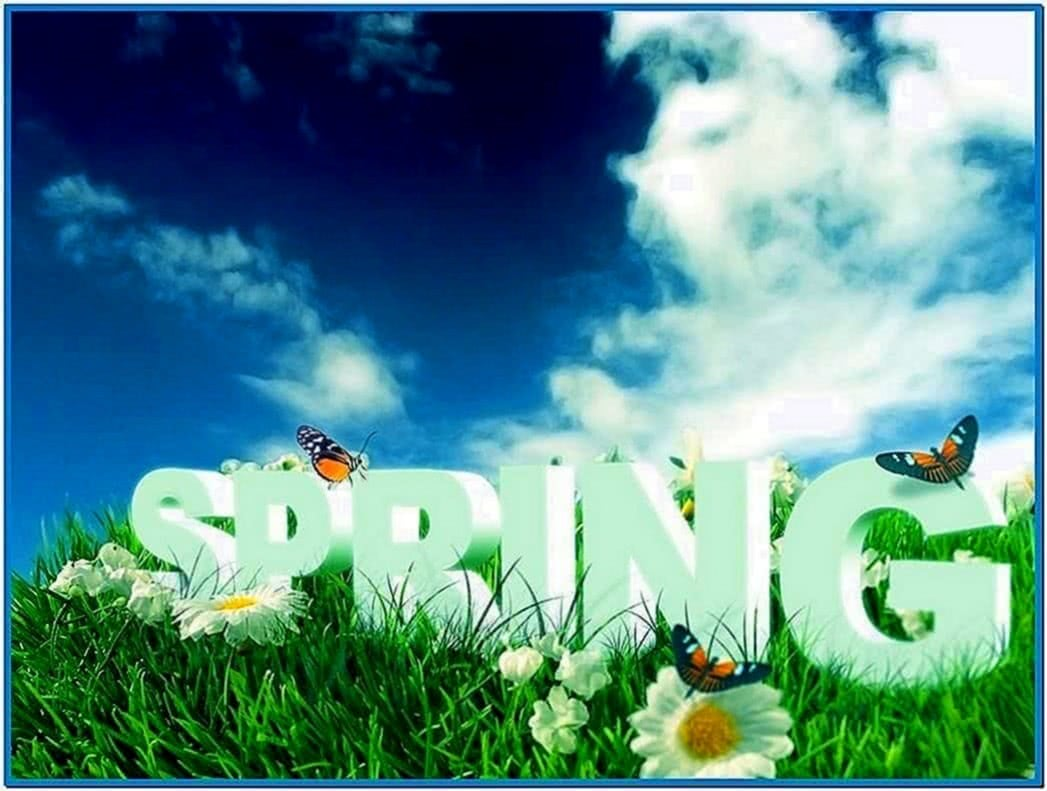 Spring Screensaver 3D