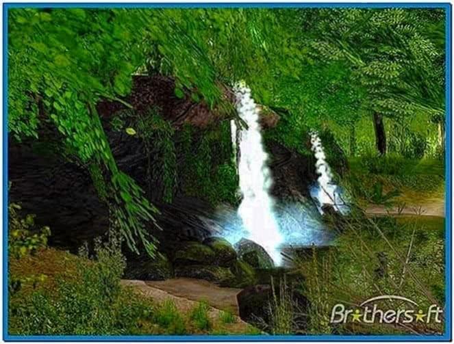 Spring waterfall 3D screensaver
