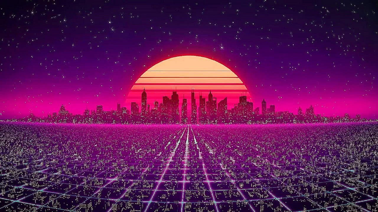 Synth City Screensaver (10 Hours)