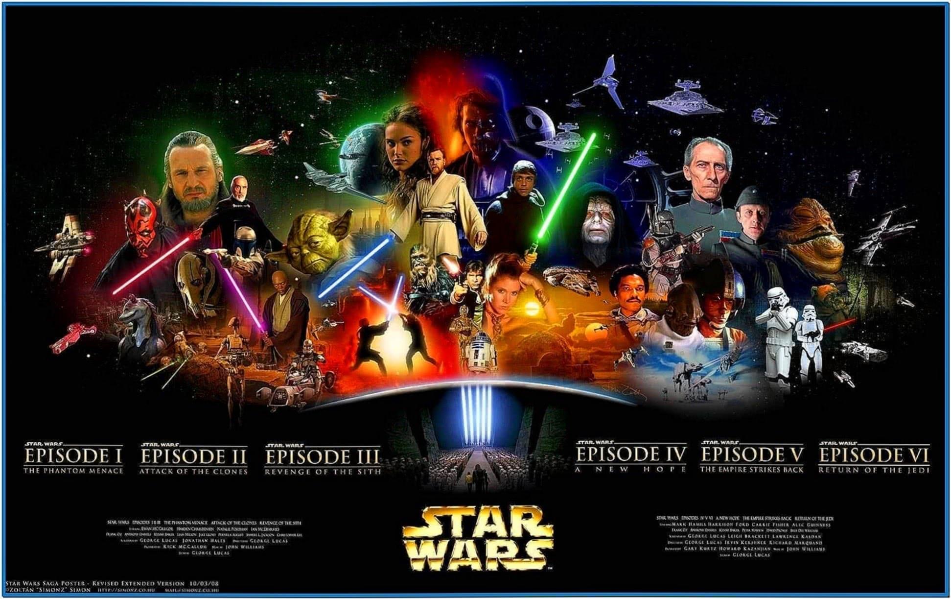 Star wars screensaver 3D Windows 7