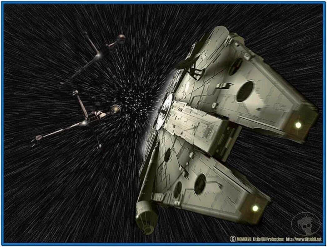 Star Wars Screensaver Hyperspace