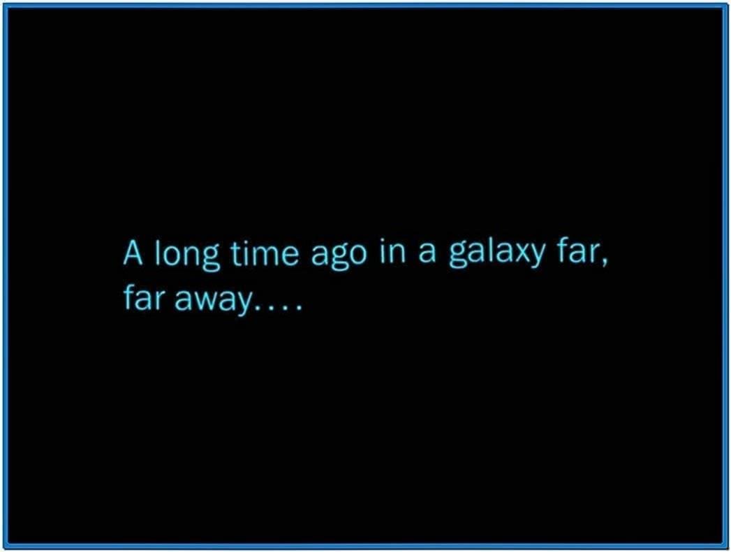 Star Wars Scroll Screensaver Mac