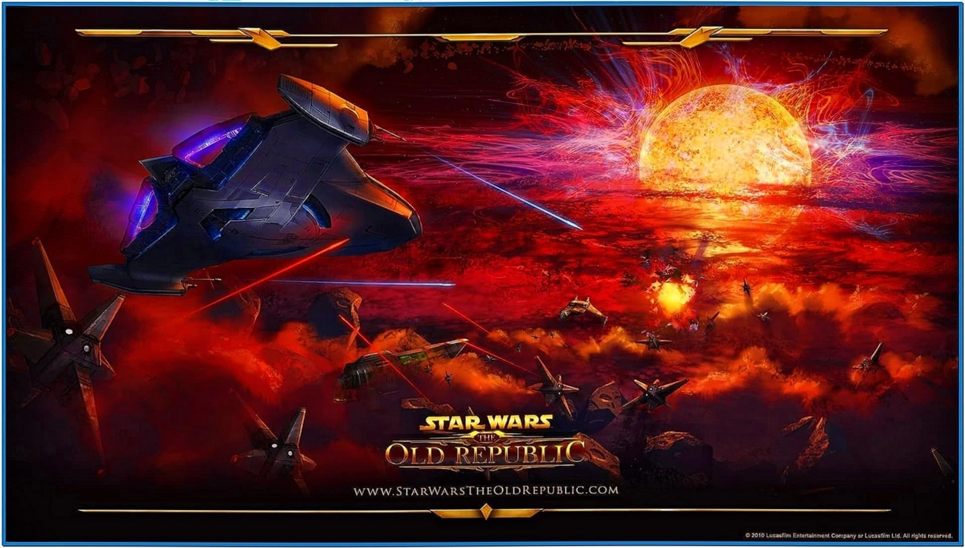 Star wars space battle screensaver Mac