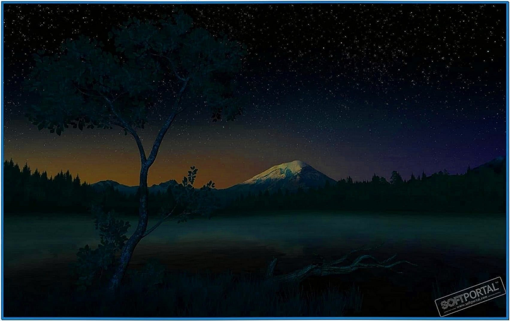 Starry night 3D screensaver