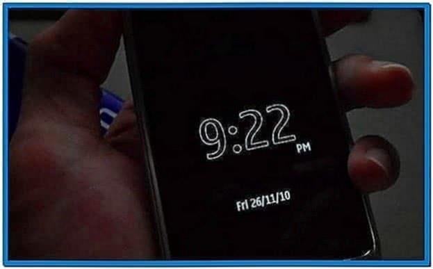 Symbian Anna Screensaver Clock