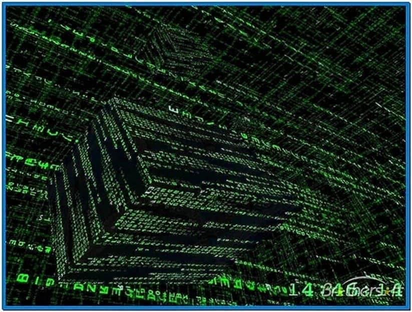 The Matrix 3D Screensaver Windows 7