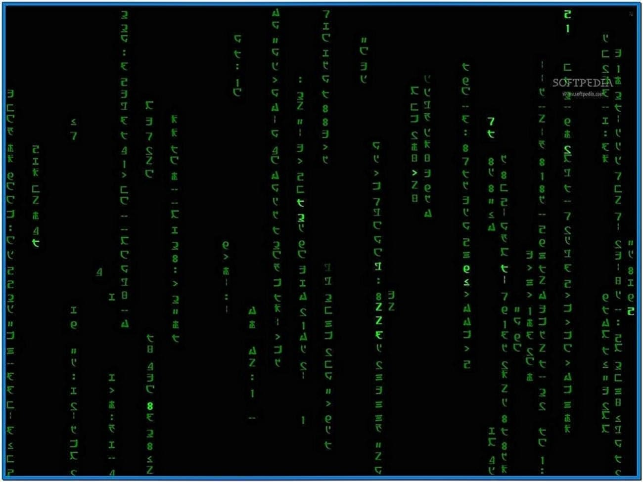The Matrix Code Animated Screensaver