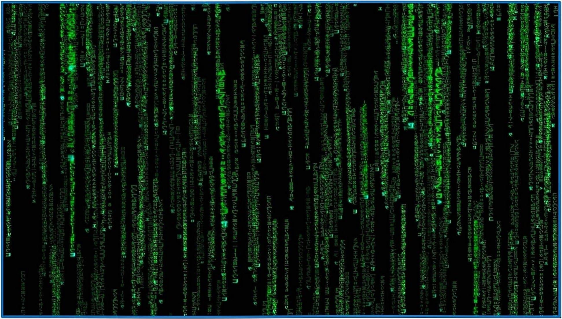 The Matrix Code Animated Screensaver
