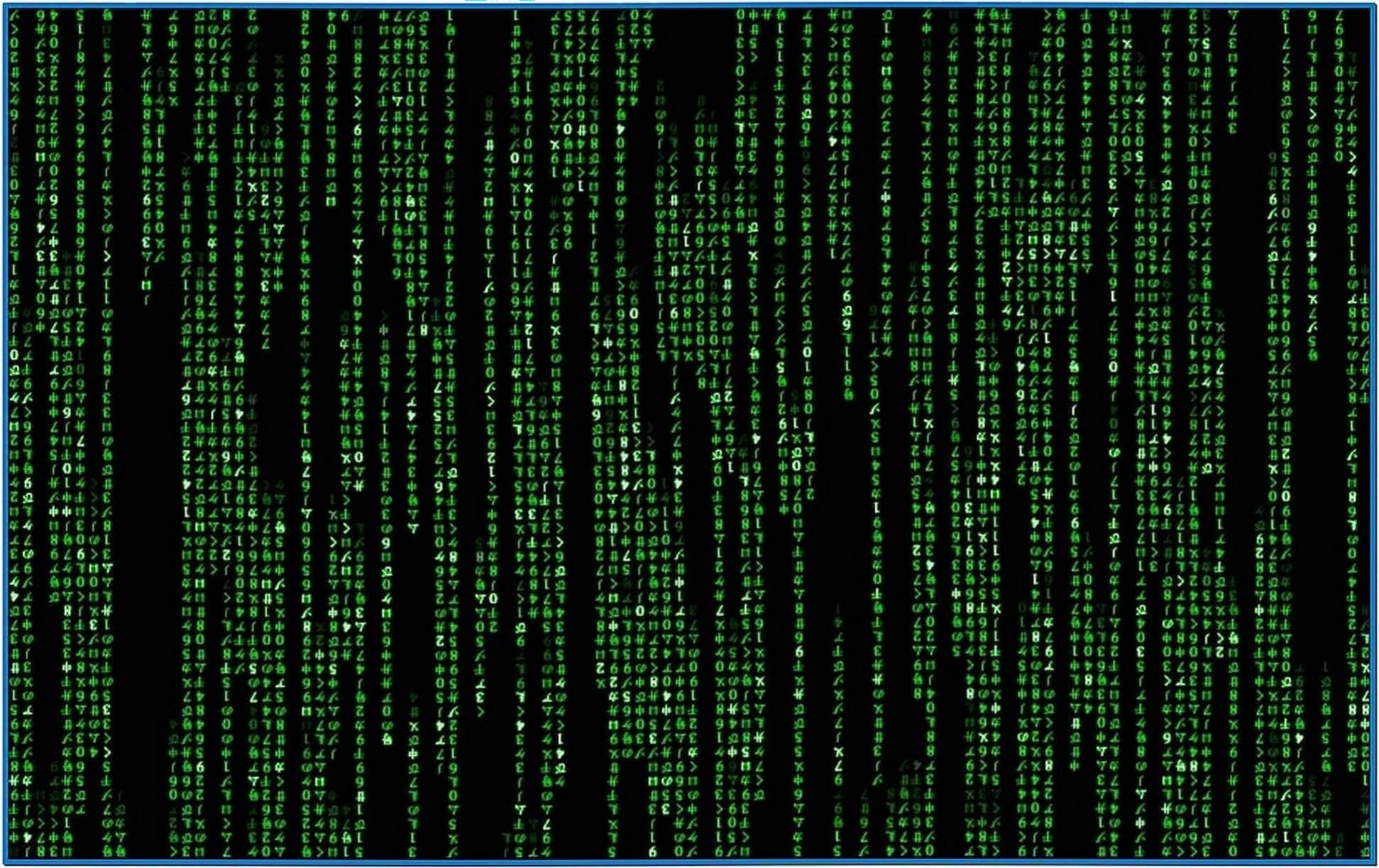 The Matrix Code Screensaver Mac