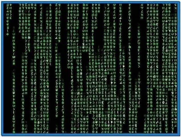 The Matrix Code Screensaver Windows 7
