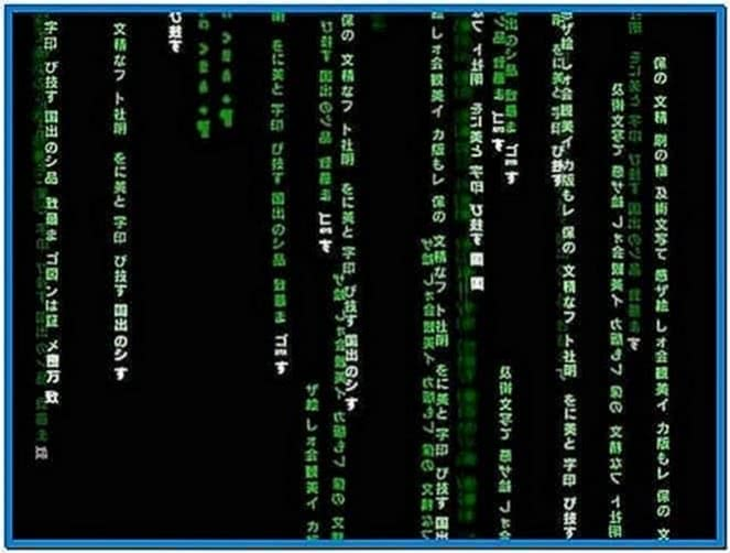 The Matrix Code Screensaver Windows 7