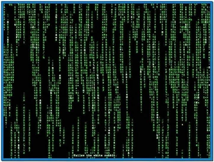 The Matrix Effect Screensaver Windows 7