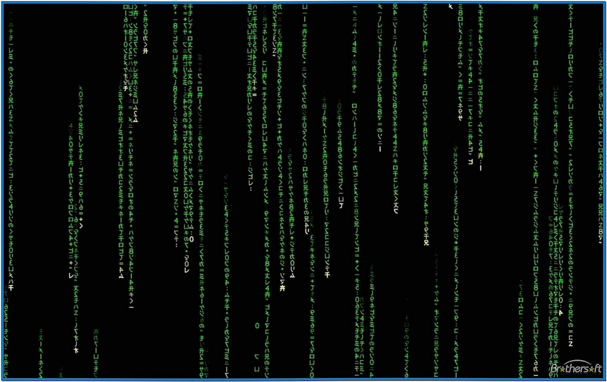 The Matrix Screensaver Windows XP