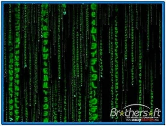 The Matrix Trilogy 3D Code Screensaver 3.4