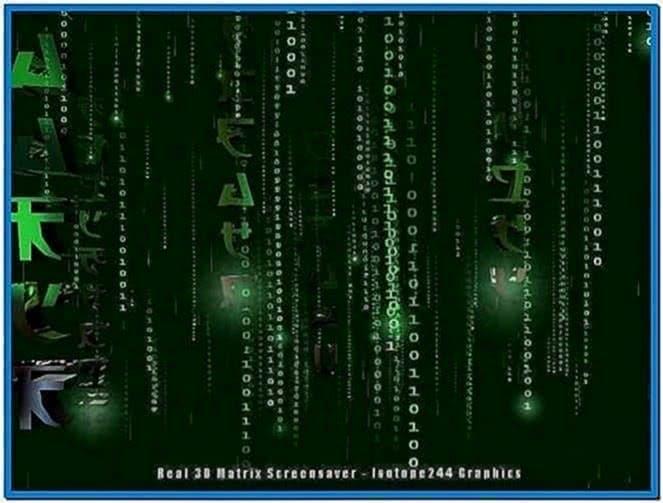 The Real 3D Matrix Code Screensaver