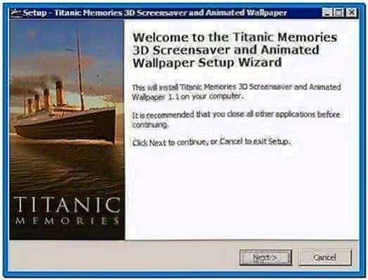 Titanic Memories 3D Screensaver and Animated Wallpaper