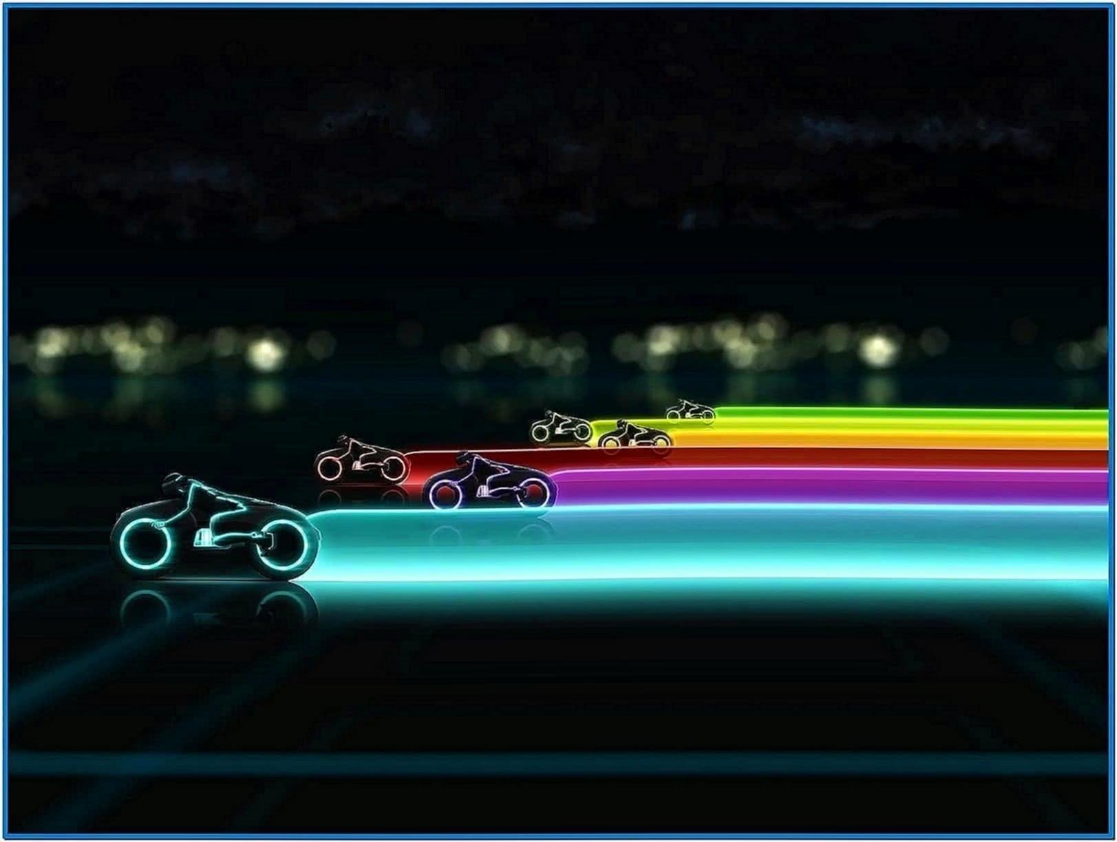 Tron legacy light cycle screensaver