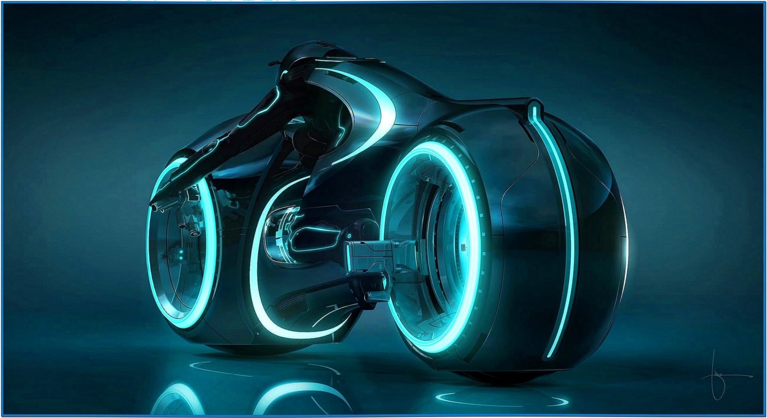 Tron Legacy Light Cycle Screensaver