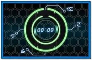 Tron Screensaver Clock