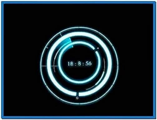 Tron Screensaver Clock